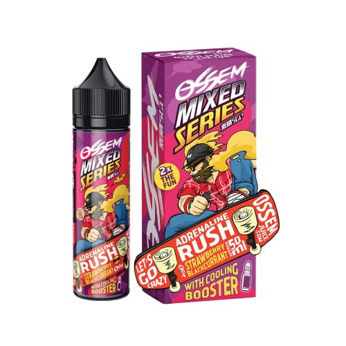 ossem adrenaline rush strawberry blackcurrant